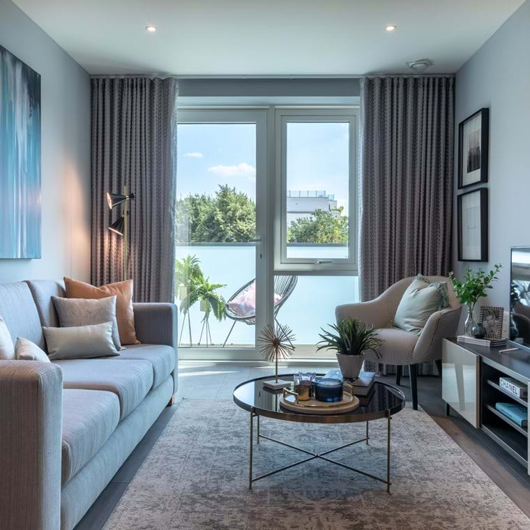 Battersea Reach 2 bed show home - Living space (1)