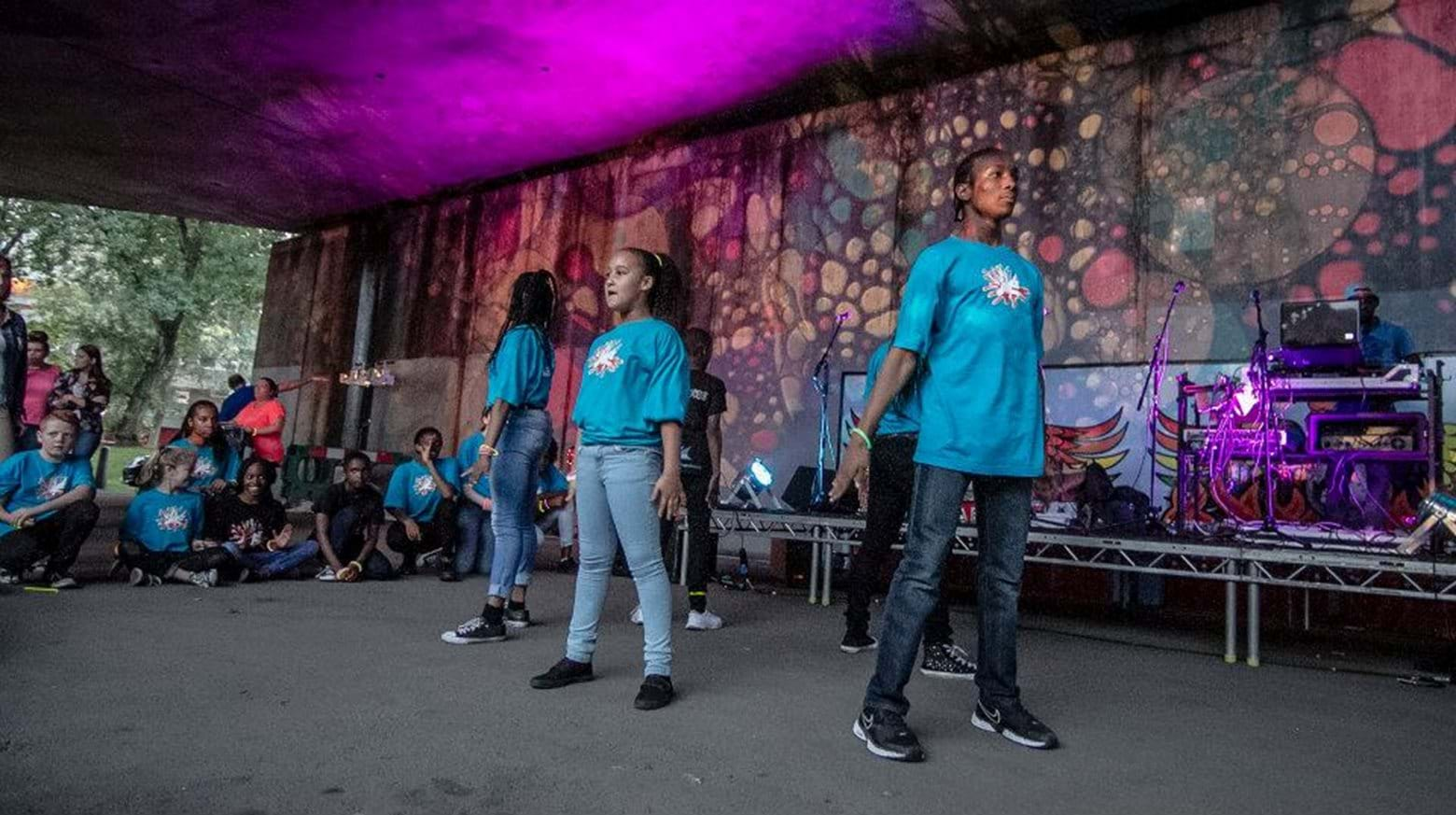 Cultural performances in Thamesmead