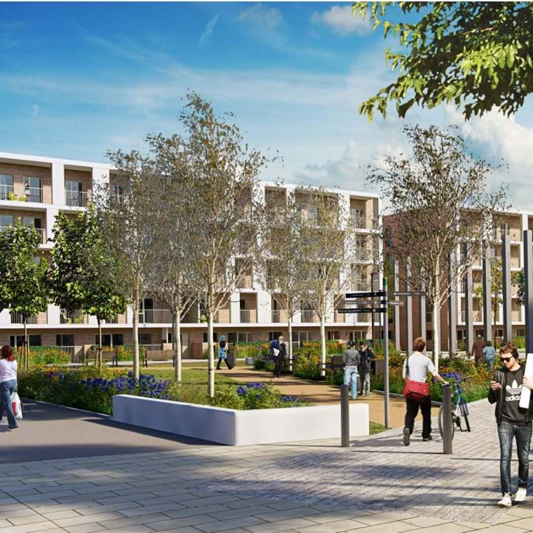 The Muse CGI - View of the new flats with the park in the foreground.JPG