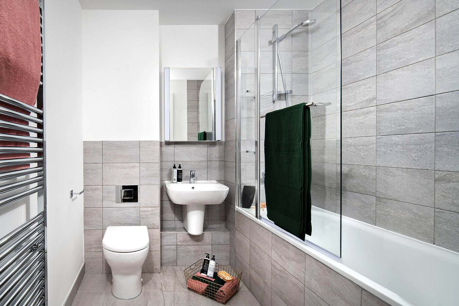 Penny Black Apartments | Bathroom - show apartment 202, 17 Esther Anne Place