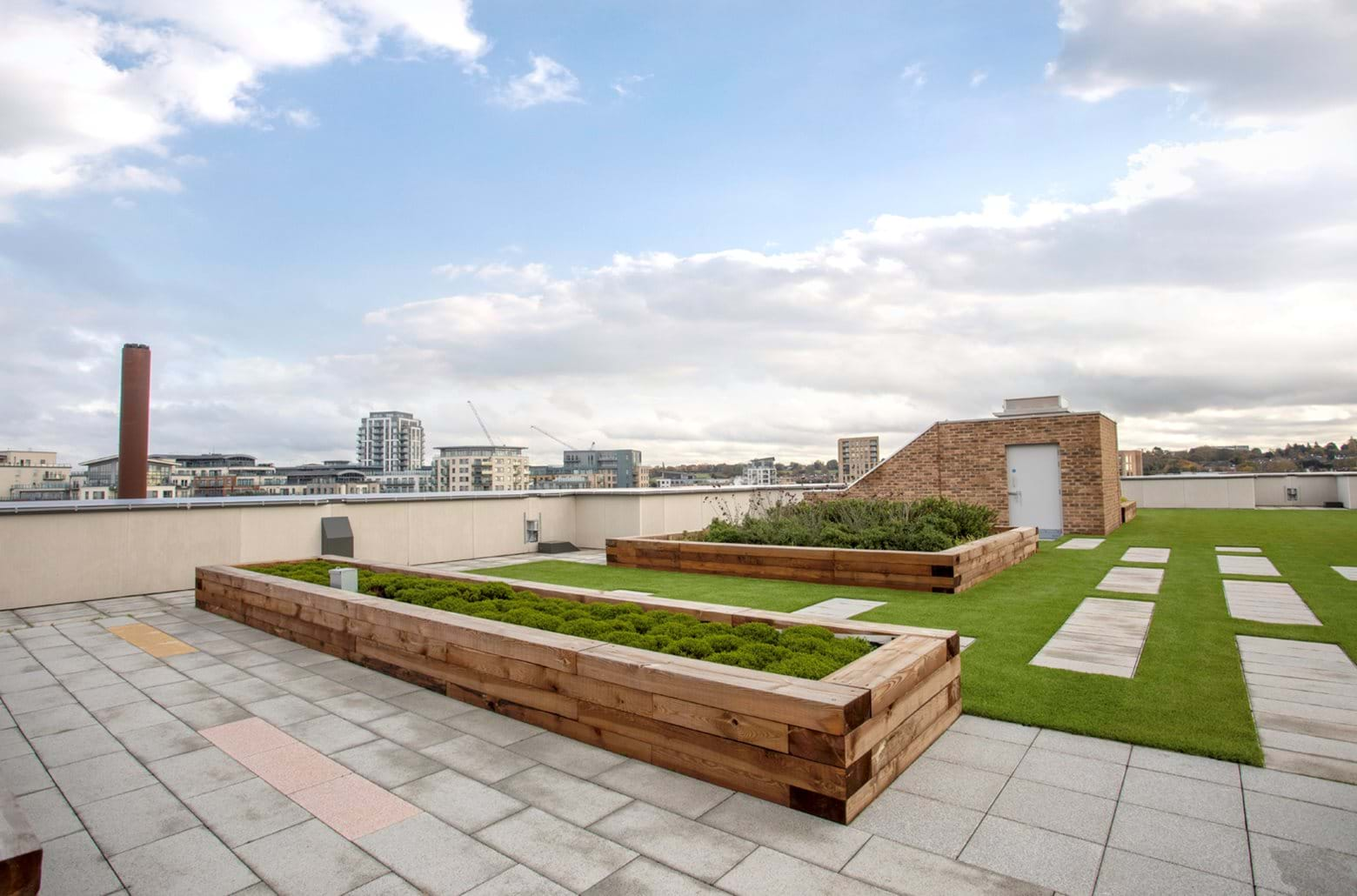 Colindale Gardens - Shared Ownership communal roof-top gardens