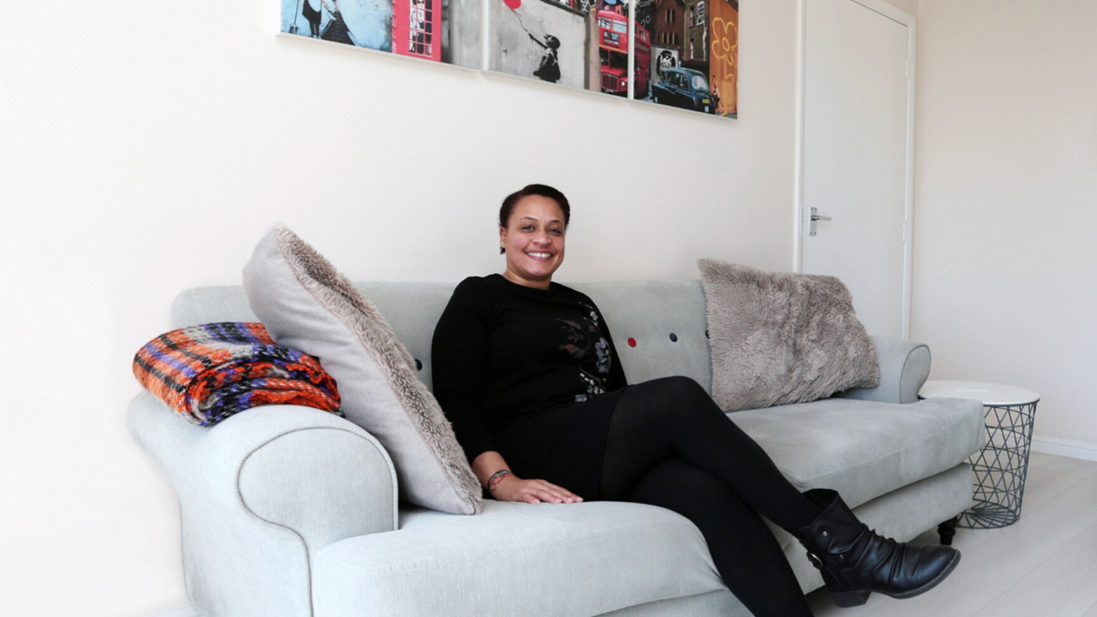 Omolola Antonia at her home in Heron Court