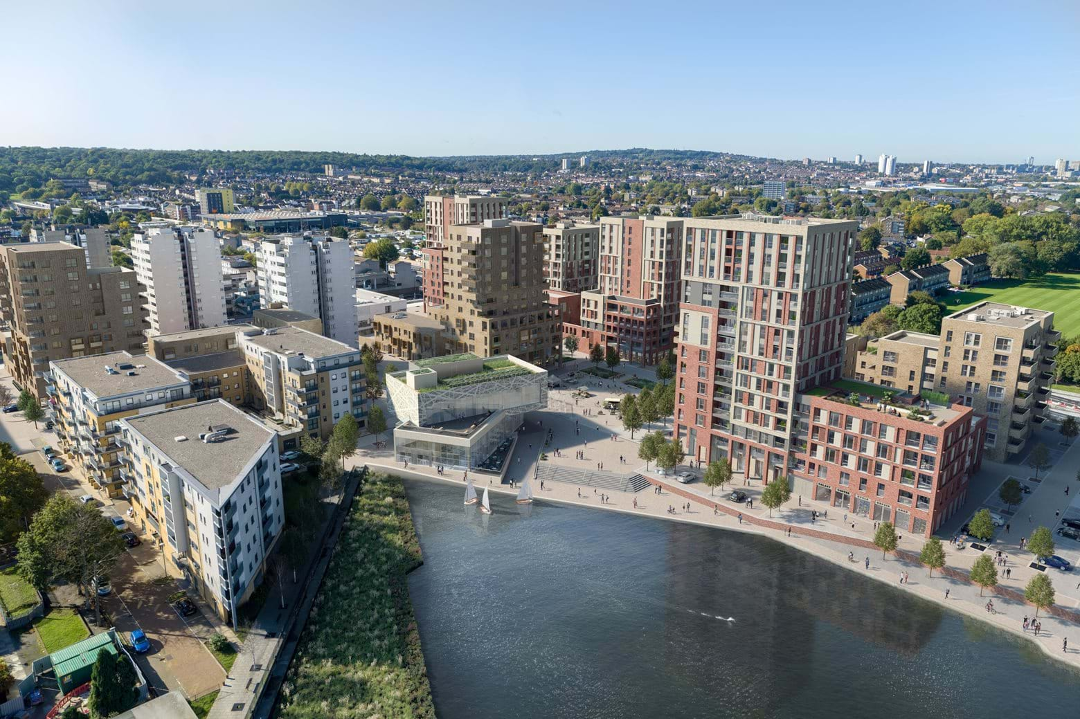 View of Southmere development in Thamesmead