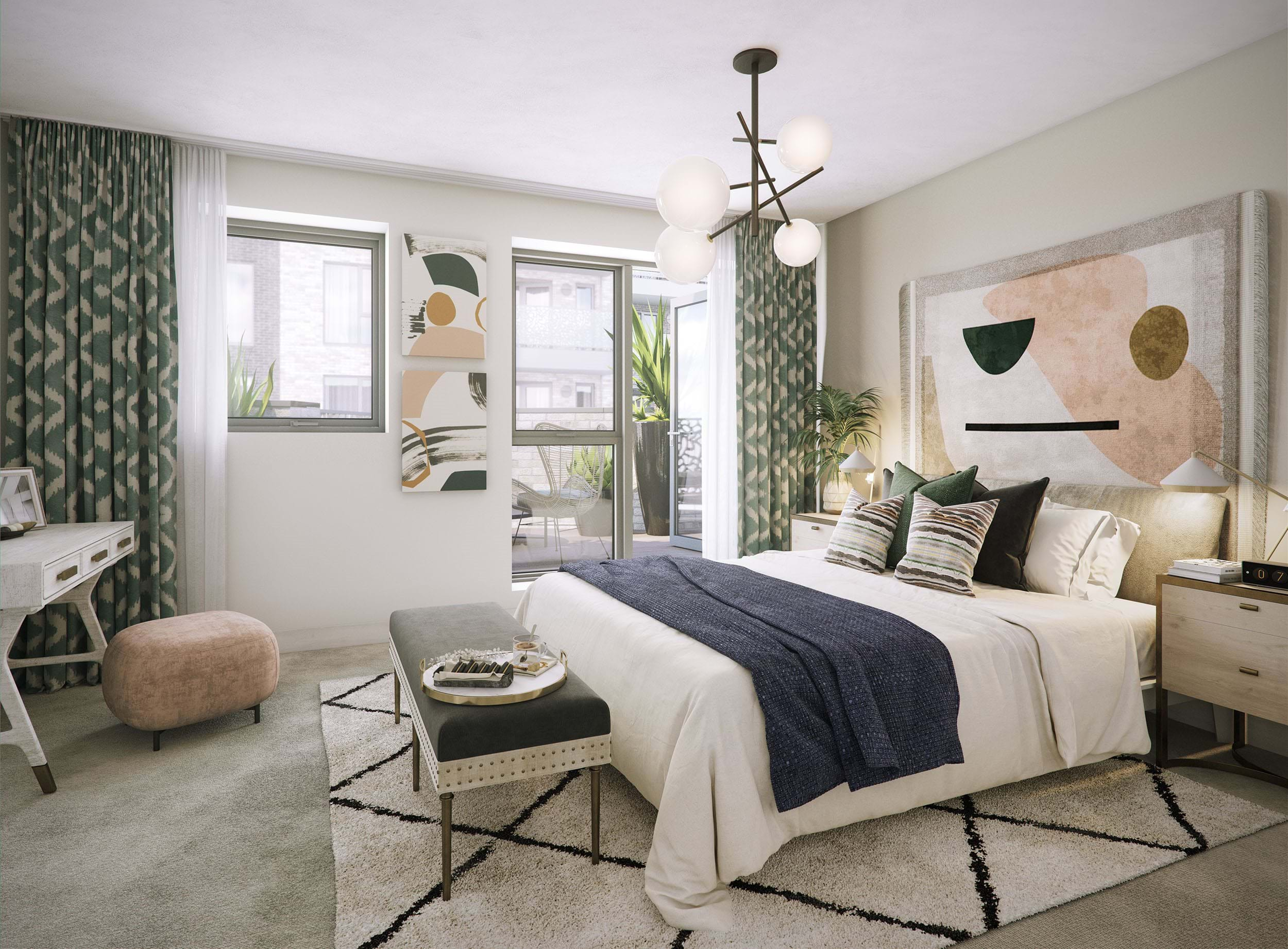 The Pomeroy | Private Sale - Bedroom (CGI)