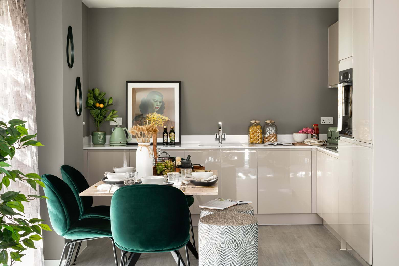 Kitchen at The Pomeroy, SE14 available with London Help To Buy