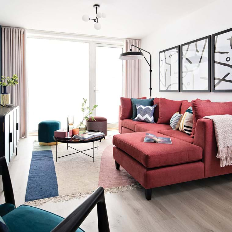 Greenway at Beckton Parkside | 3 Bed Show Home - Living Area.jpg