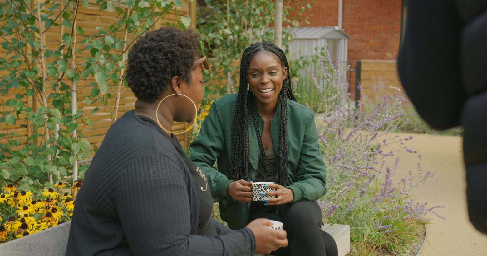 Mary has made close friendships with other neighbours at The Reach