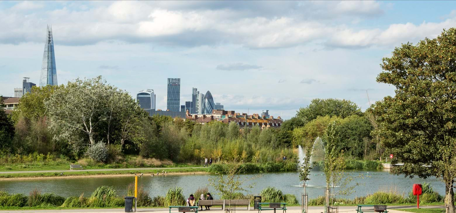 Discover the beautiful Burgess Park in Camberwell