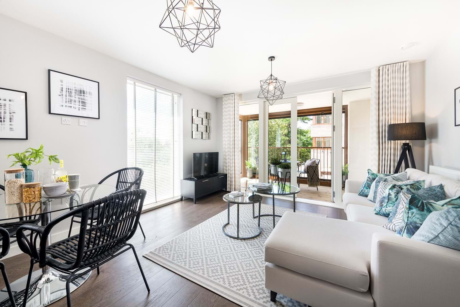 Ternary Place show home - Living space